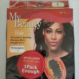 """Human Hair 6 pcs French Twist 10"""" 12"""" 14"""" Color 1"""